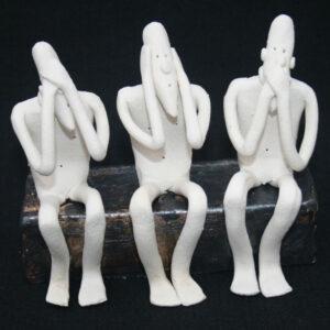 3 x sculptures by Sally Dunham