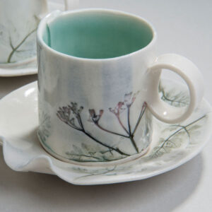 Cup and saucer by Rose Dickinson