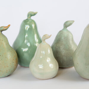 Ceramics pears by Cathy Outen