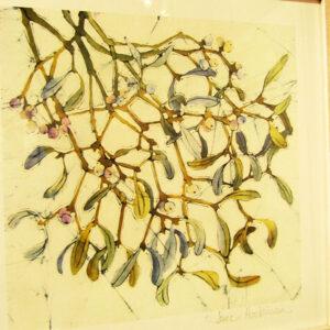 Mistletoe Art by Jane Hickman
