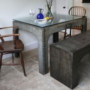 Metal table by Kev Colbear