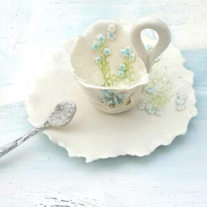 Ceramic tea cup by Karen Turner