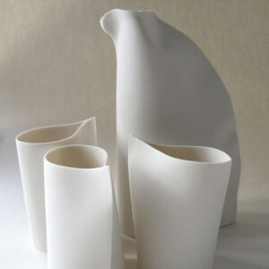 Ceramic jugs by Nancy Dunham