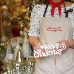 Merry Christmas hanger inside shop