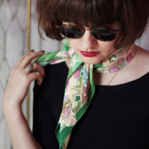 Hand painted silk scarves by Agnes Ashe