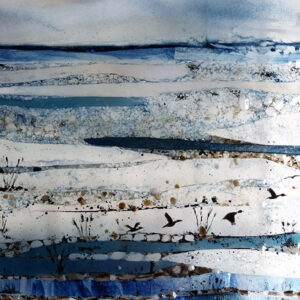 Fused glass scene by Cathy Constable
