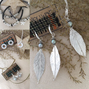 Selection of silver jewellery by Dizzy Dizzigns