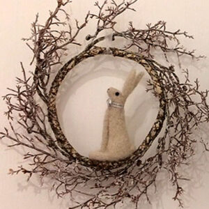 Felt Hare made by Beveley Neeves