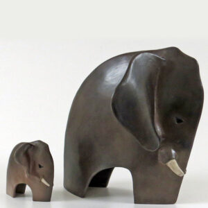 Ceramic elephant by Juliet Gorman