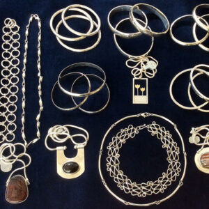 Selection of silver jewellery by Majik