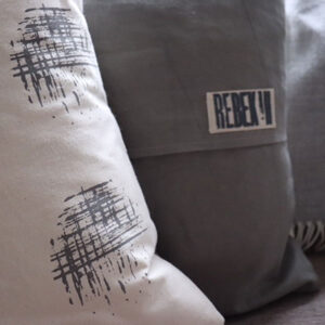 Screen print cushion by Rebekah