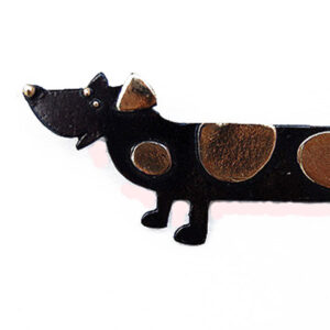 Sausage Dog brooch by Penny Williams