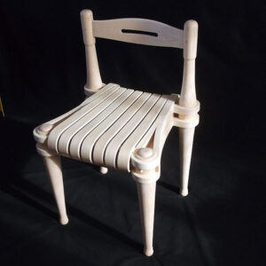 Wooden chair by Dan Hussey