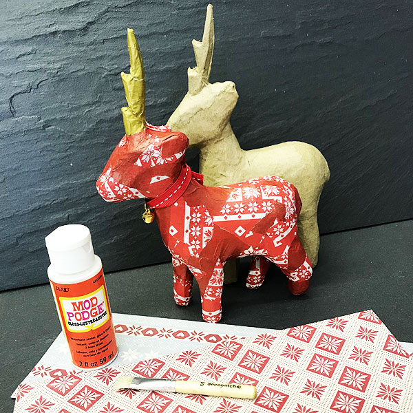 Decoupage a Reindeer