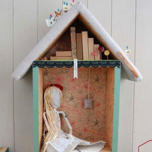 Mixed-media sculpture by little bits of printy things