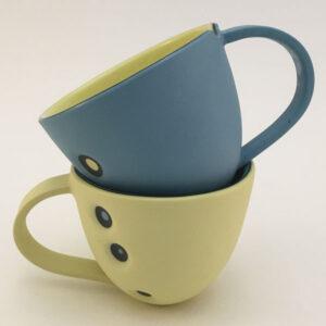 2 cceramics cups by Sheila Madder