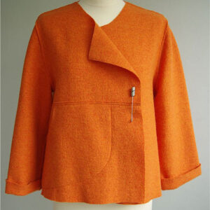Boiled wool coat by Sarah Hardy