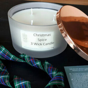 Thre wick candle by White Candle Co