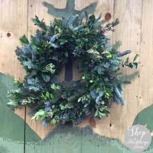 12 inch fresh artisan wreath blackthorpe barn